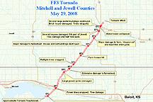 May 29 2008 Tornadoes in Kearney, Nebraska and Glen Elder, Kansas west of Beloit